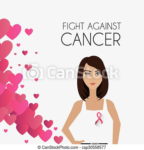 contre, baston, cancer, poitrine, campagne - csp30558577