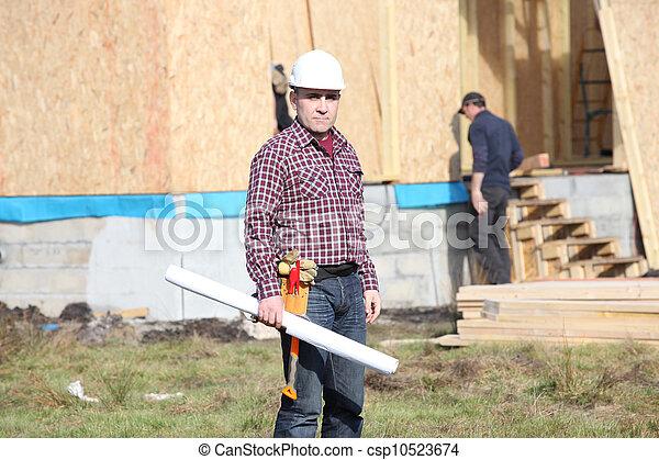 contremaître, site construction - csp10523674