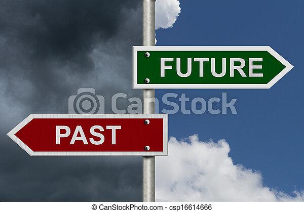 contro, passato, futuro - csp16614666