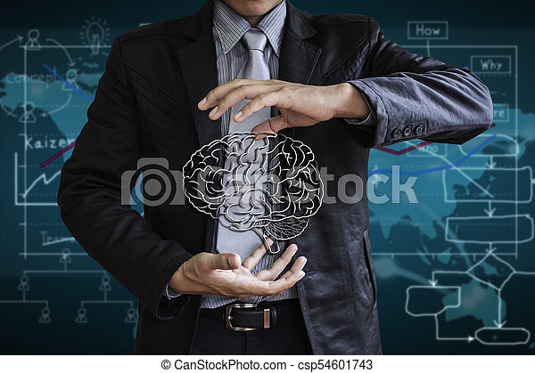 Control cerebral de negocios - csp54601743