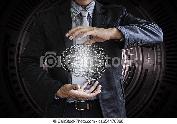 El cerebro de los negocios no controla la tecnología - csp54478368