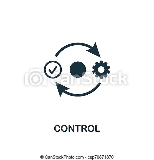 Control icon. Premium style design from business management icon collection. Pixel perfect Control icon for web design, apps, software, print usage - csp70871870
