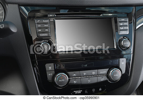 Control Panel Of Car Control Panel Of Audio Player And Other