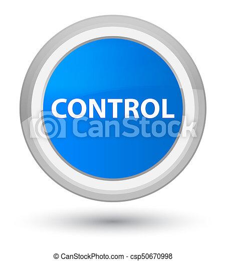 Control prime cyan blue round button - csp50670998