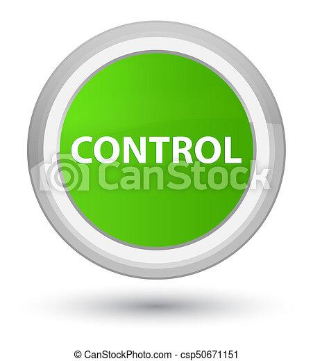 Control prime soft green round button - csp50671151