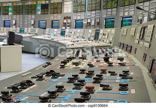 Control room of a russian nuclear power generation plant - csp9109664
