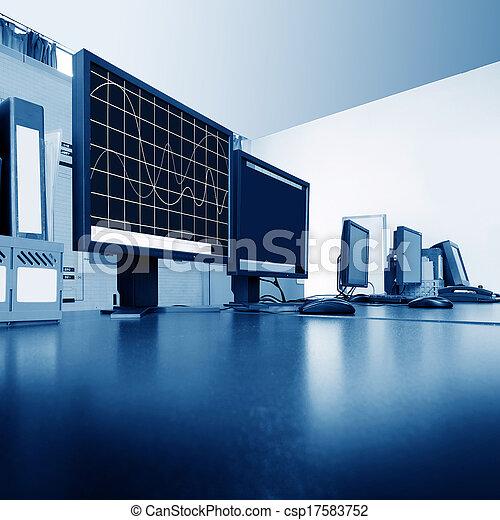 Sala de control de computadoras - csp17583752