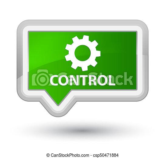 Control (settings icon) prime green banner button - csp50471884