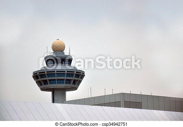 Control de tráfico aéreo - csp34942751