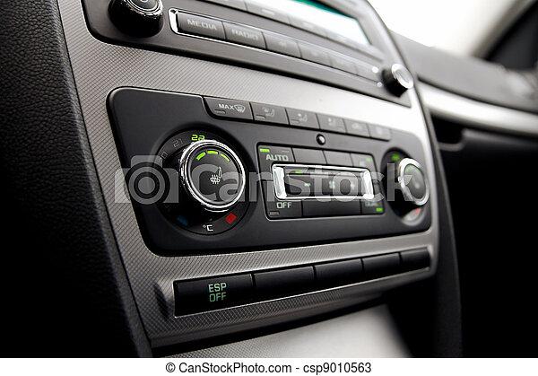 controle, auto, klimaat - csp9010563