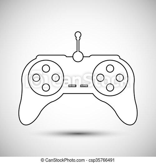 Controle Jogo Vetorial Desenho Ilustracao 10 Conceito