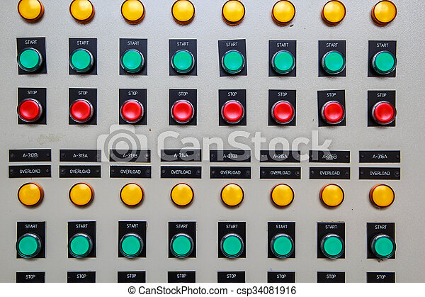controle, knoop, on-off - csp34081916