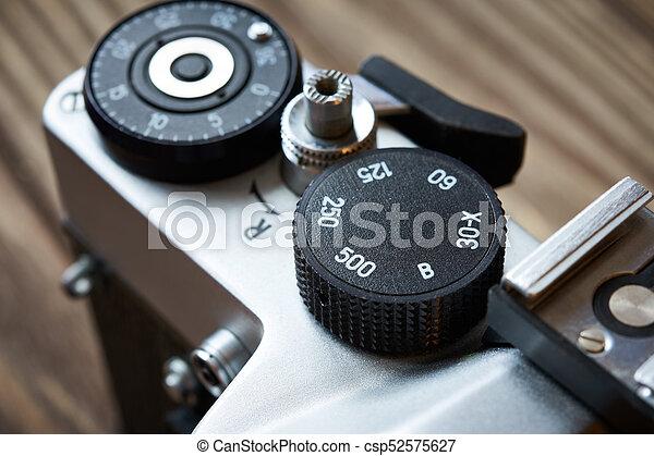 controllo, quadrante, cornice, contatore, slr, otturatore, macchina fotografica, velocità - csp52575627