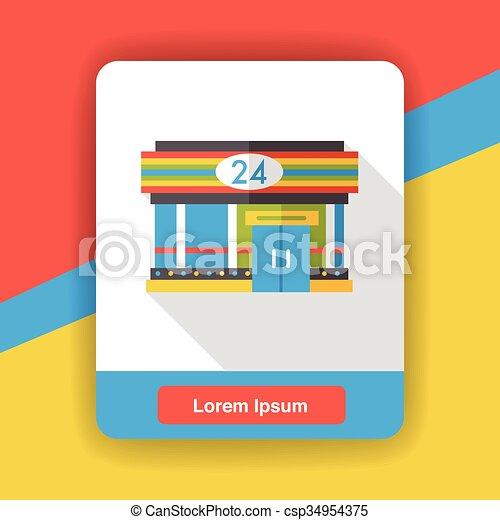 convenient store flat icon - csp34954375
