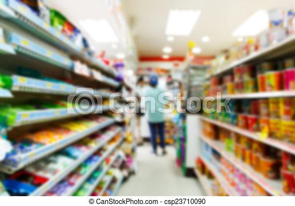 convenienza, blurry, negozio - csp23710090