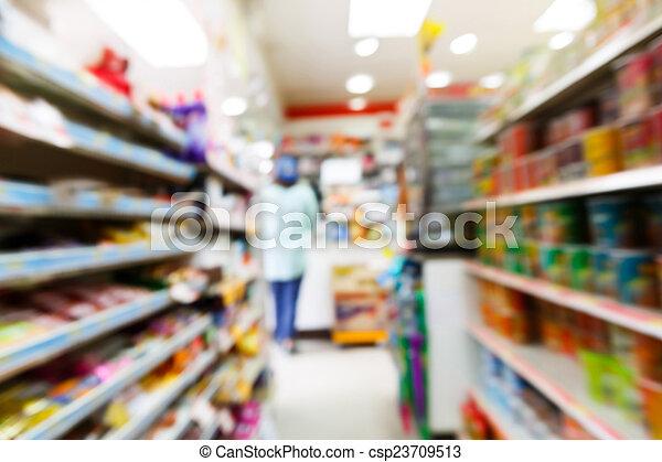 convenienza, blurry, negozio - csp23709513