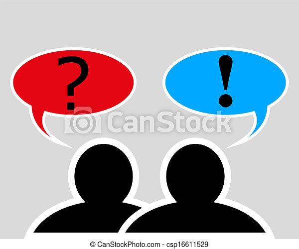 conversação, entre, duas pessoas - csp16611529