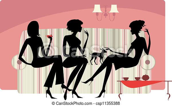 conversation, femmes - csp11355388