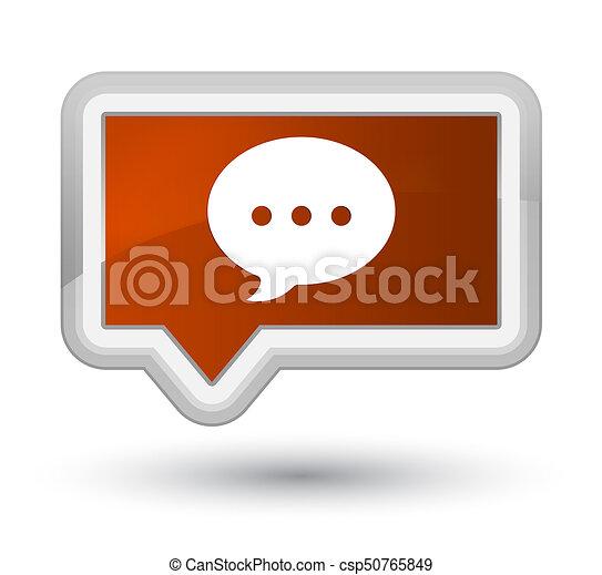 Conversation icon prime brown banner button - csp50765849