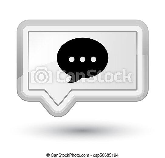 Conversation icon prime white banner button - csp50685194