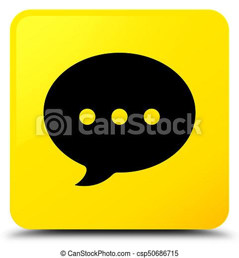 Conversation icon yellow square button - csp50686715