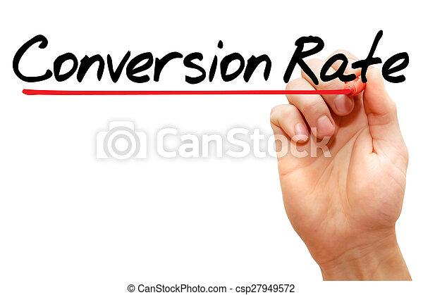 Tasa de conversión - csp27949572