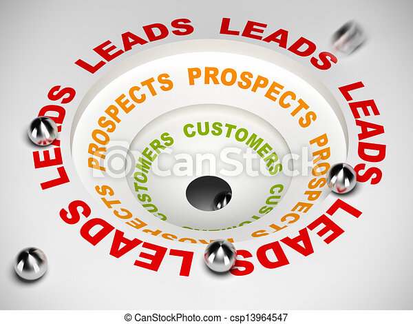 Conversion Funnel - Leads to Sales - csp13964547