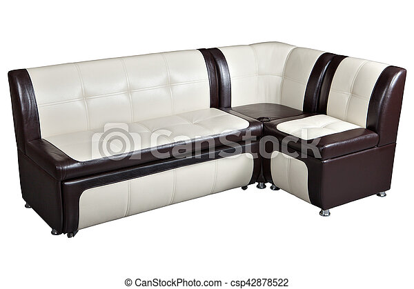 Convertible corner sectional sofa bed in imitation leather, furniture for  kitchen,