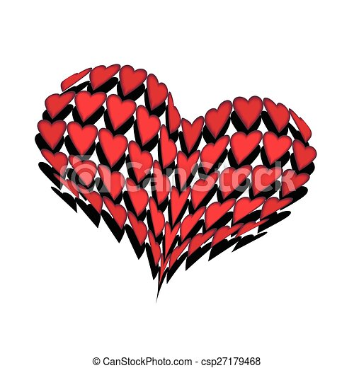 convex huge heart bright hearts surrounded by darker on the clip rh canstockphoto com big heart clipart free Big Art Graphics