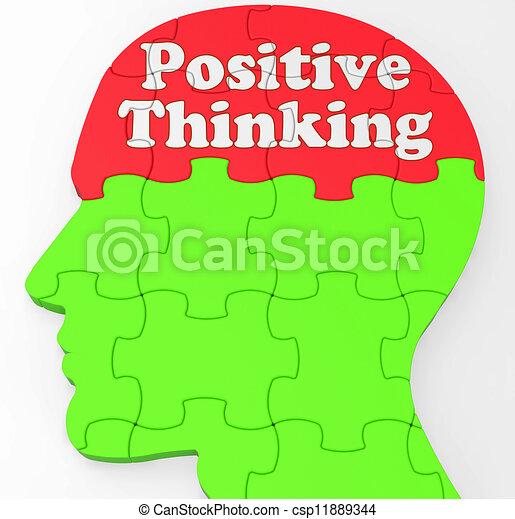 convicção, pensando, positivo, mente, otimismo, ou, mostra - csp11889344