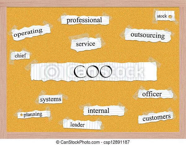 COO Corkboard Word Concept - csp12891187