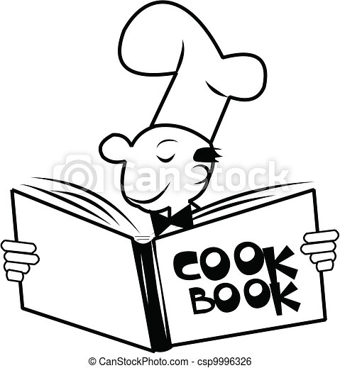 chef looking at his cook book with huge smile clip art vector rh canstockphoto com cool clipart images cork clipart