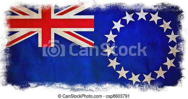 Cook Islands grunge flag - csp8603791