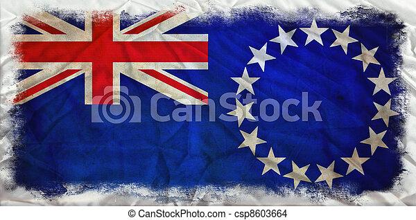 Cook Islands grunge flag - csp8603664