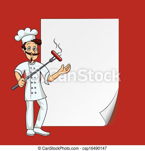 cook, papier, leeg - csp16490147