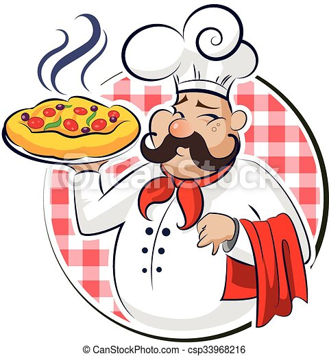 cook pizza vector illustration isolated on a white vector clip rh canstockphoto com pizza victor ny pizza vector art