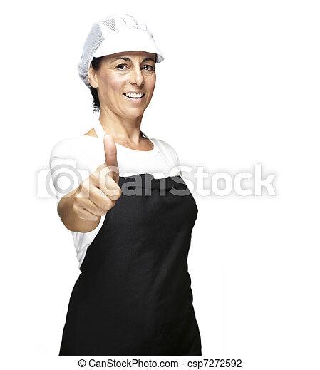 cook with mesh top hat - csp7272592
