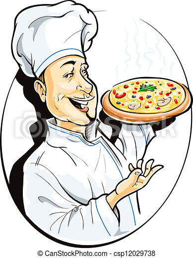 cook with pizza - csp12029738