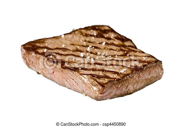 cooked rump steak - csp4450890