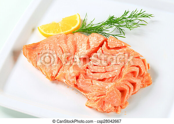 Cooked salmon - csp28042667