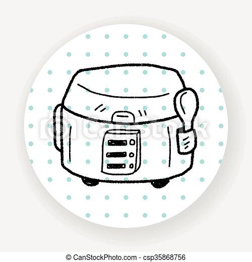 cooker doodle - csp35868756