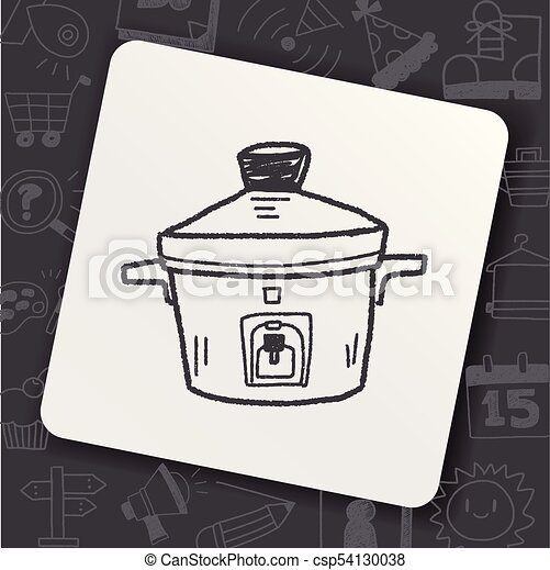 cooker doodle - csp54130038