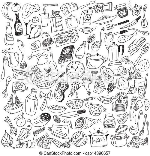 cookery doodles - csp14390657
