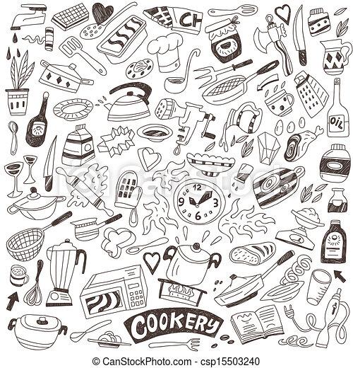 cookery doodles - csp15503240