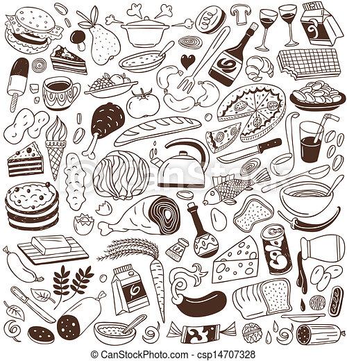 Cookery, food doodles - csp14707328