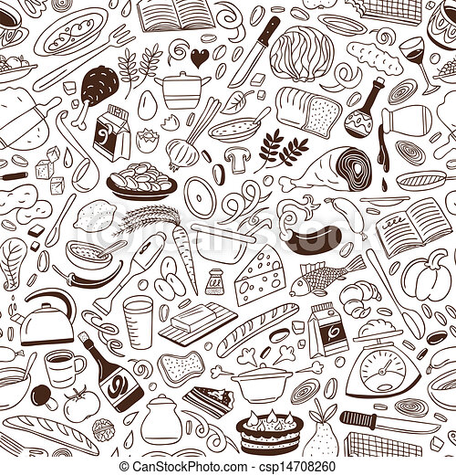 Cookery - seamless background - csp14708260