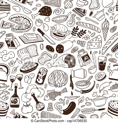 Cookery - seamless background - csp14706535