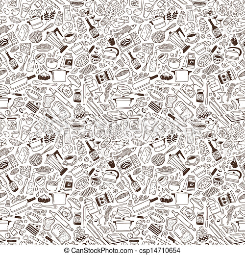 Cookery - seamless pattern - csp14710654