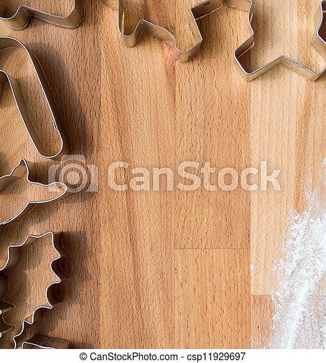 Cookie cutters in kitchen - csp11929697