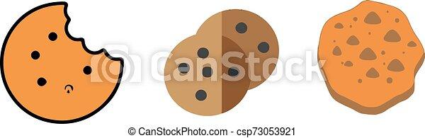 cookie icon on white background - csp73053921